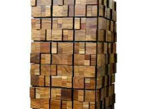 3d wood planter, 3d mosaic planter, uk planter, reclaimed wood planter, rustic planter, interior planter, livingroom planter, office planter, cafe planter.; wood planter;