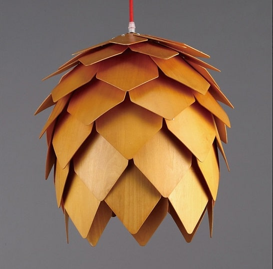 decorative pinecone shape pendant light