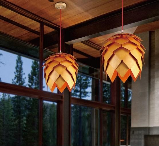decorative pinecone shape pendant light, pinecone shape pendant light, pinecone shape light, pinecone pendant lights