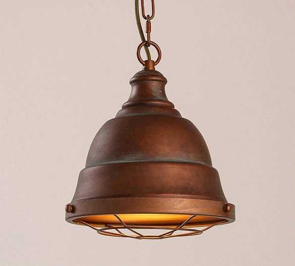 rust metal pendant light, rusty light, rust, green patina metal light