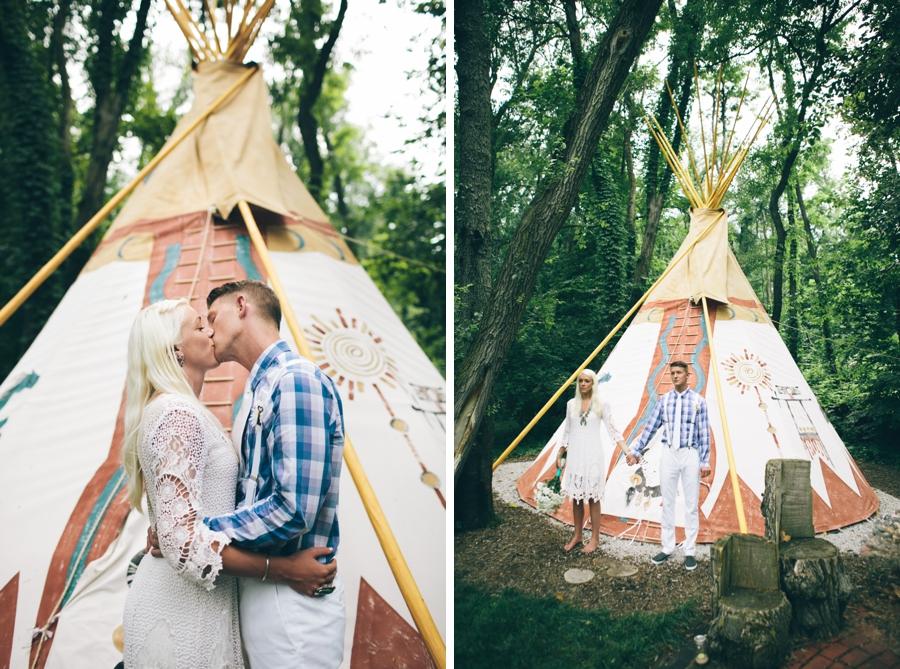 free people hippie teepee wedding brooke  klaus are
