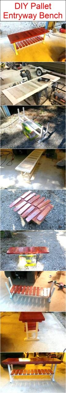 Diy Pallet Entryway Bench Wood Furniture