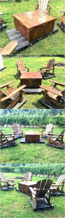 Patio Furniture Set With Wooden Pallets Wood Pallet