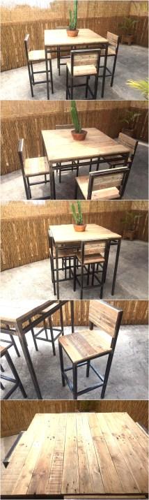 Reclaimed Pallet Furniture Set Wood