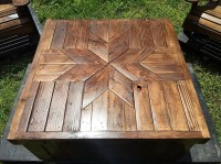 Patio Furniture Set Made with Wooden Pallets   Wood Pallet ...