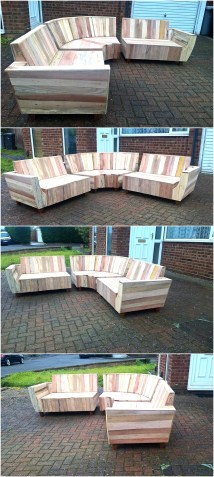 Outdoor Couch Set With Pallets Wood Pallet Furniture