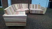 Outdoor Couch Set Made with Pallets | Wood Pallet Furniture