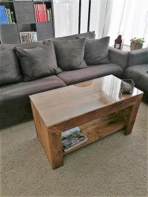 Coffee Table With Pallets Wood Pallet Furniture