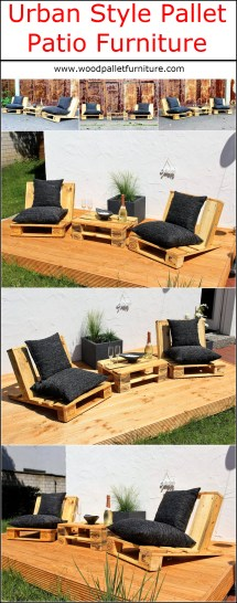 Urban Style Pallet Patio Furniture Wood