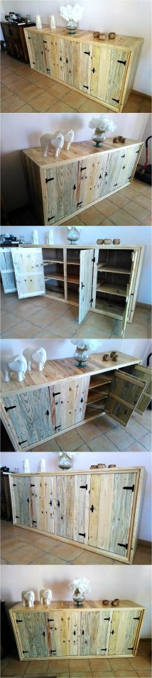 Pallets Entryway Table With Storage Drawers Wood Pallet