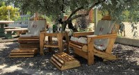 Wood Pallet Patio Chairs Set | Wood Pallet Furniture