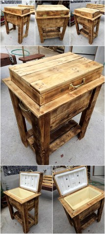 Pure Rustic Pallet Cooler Idea Wood Furniture