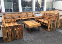 Wooden Pallet Made Patio Cafe Furniture | Wood Pallet ...