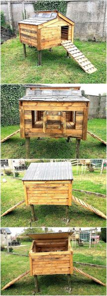 Chicken Coop Of Recycled Wooden Pallets Wood Pallet