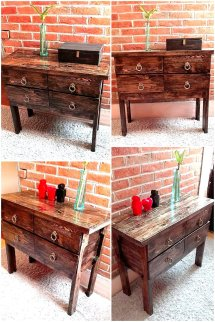 Repurposed Wooden Pallets Entryway Table Wood Pallet