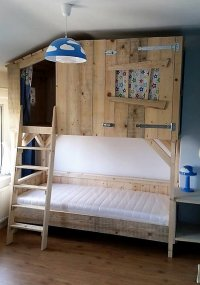 DIY Wood Pallets Tree House Bunk Bed | Wood Pallet Furniture