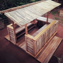 Recycled Wooden Pallets Patio Bar Wood Pallet Furniture