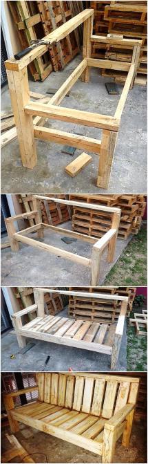 Diy Recycled Wood Pallet Bench Plan Furniture