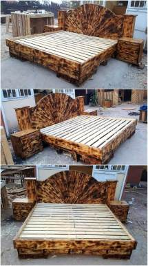 Repurposed Wooden Pallets Giant Beds Wood Pallet Furniture