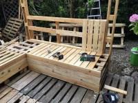 DIY Wood Pallets Patio Gazebo Deck with Furniture Plan ...