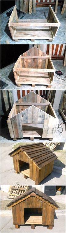 Diy Wooden Pallets Dog House Wood Pallet Furniture
