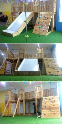 Pallets Wooden Kids Playground Wood Pallet Furniture