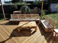 DIY Wooden Pallets Garden Deck Plan | Wood Pallet Furniture