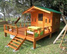Repurposed Wood Pallets Kids Patio Playhouse