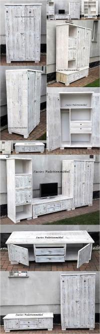 Recycled Wooden Pallets Living Room Wall Plan   Wood ...