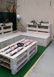 Repurposed Wooden Pallets Patio Lounge Wood Pallet Furniture