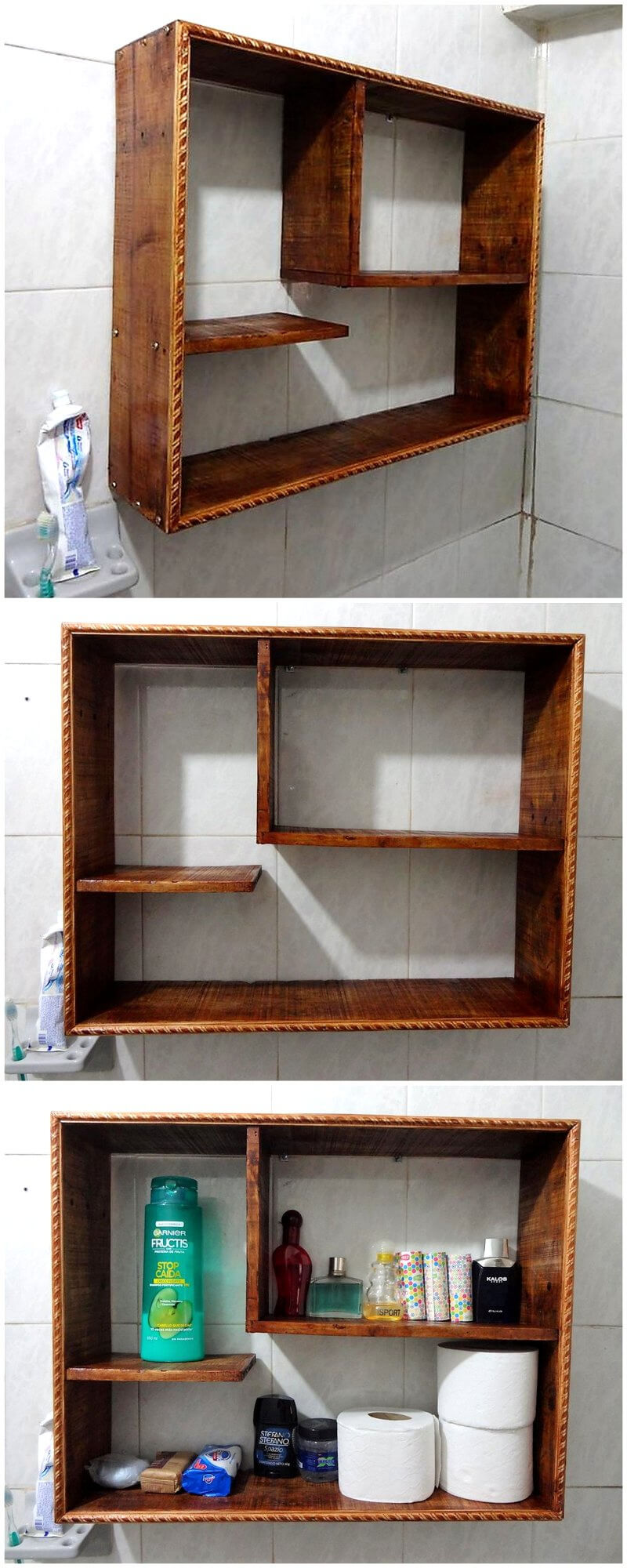 cheap kitchen sink slide out organizers cabinets simple and creative ideas for wood pallet recycling | ...