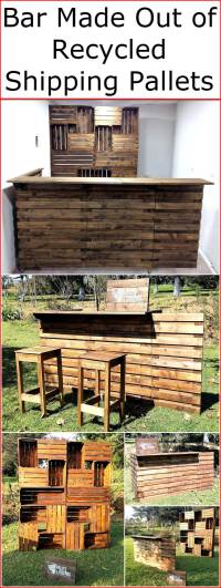 Bar Made Out of Recycled Shipping Pallets | Wood Pallet ...
