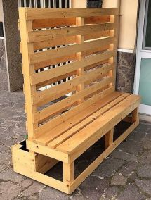 Creative Pallet Planter Cum Bench Wood Furniture