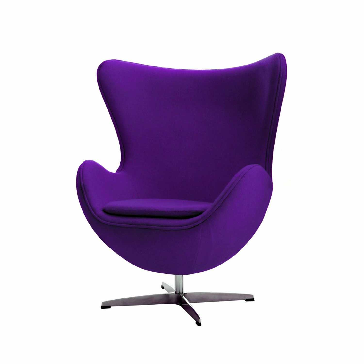 revolving easy chair used no plumbing pedicure purple wool effect chrome base jubilee magnify click to view larger image and more views