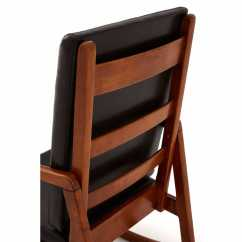 Relax The Back Chair For Sale Comfy Kids Chairs Retro Oak Finished Rubberwood Brown Leather Effect