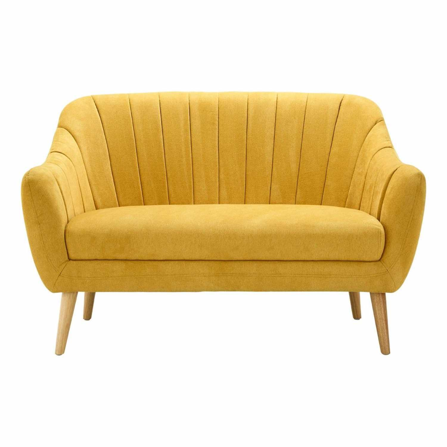 retro style sofa uk broyhill modern gottenberg 2 seater with yellow