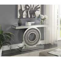 Crystal Modern Mirrored Glass Console Table With Intricate ...