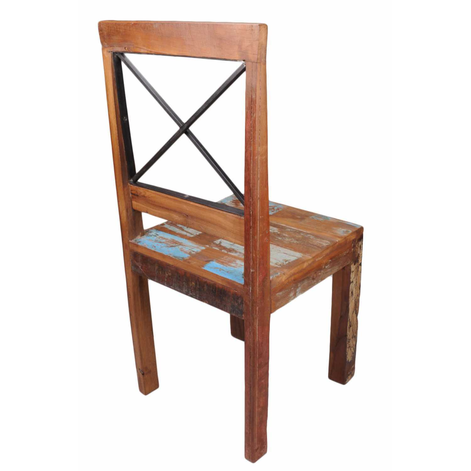 distressed leather dining chairs uk bedroom chair navy new england bohemian reclaimed