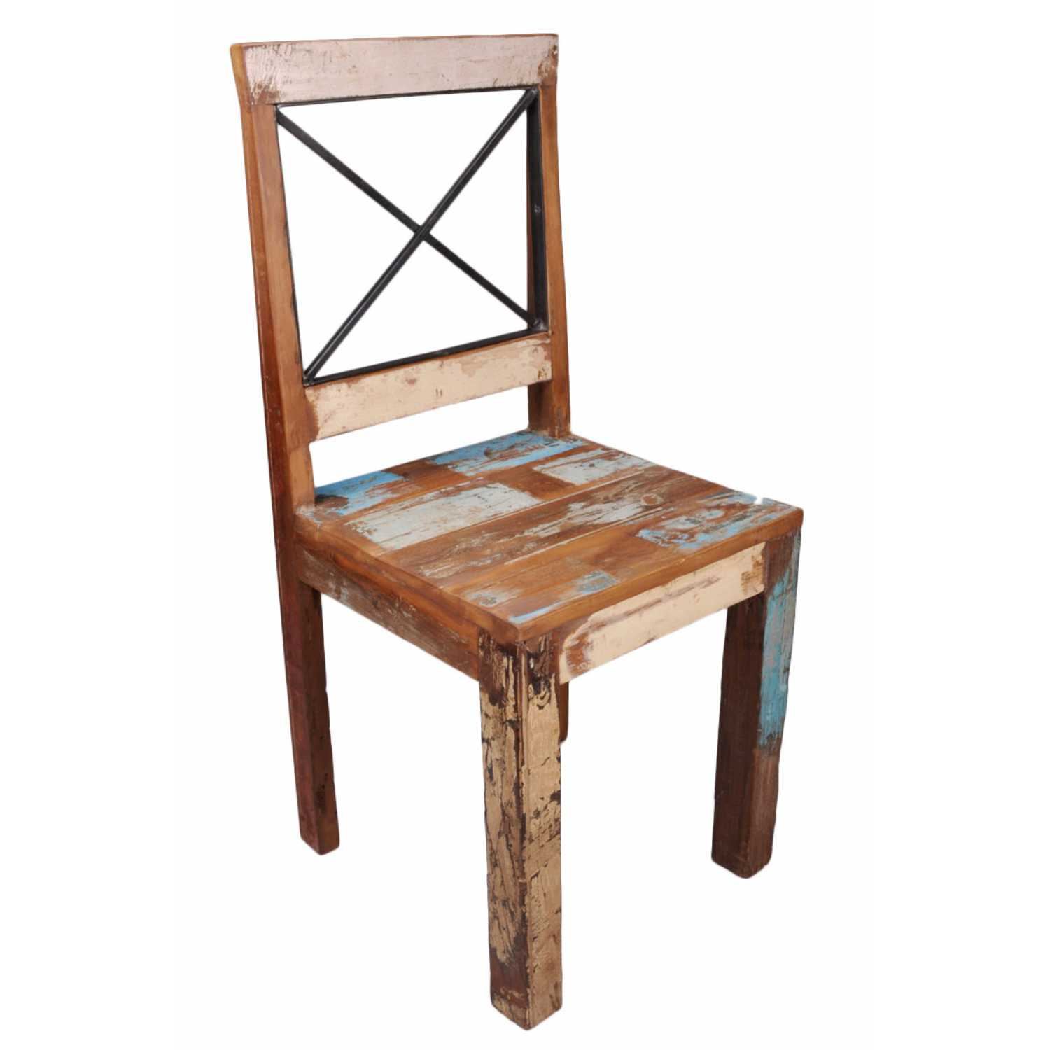 distressed leather dining chairs uk computer chair mat pair of new england bohemian reclaimed
