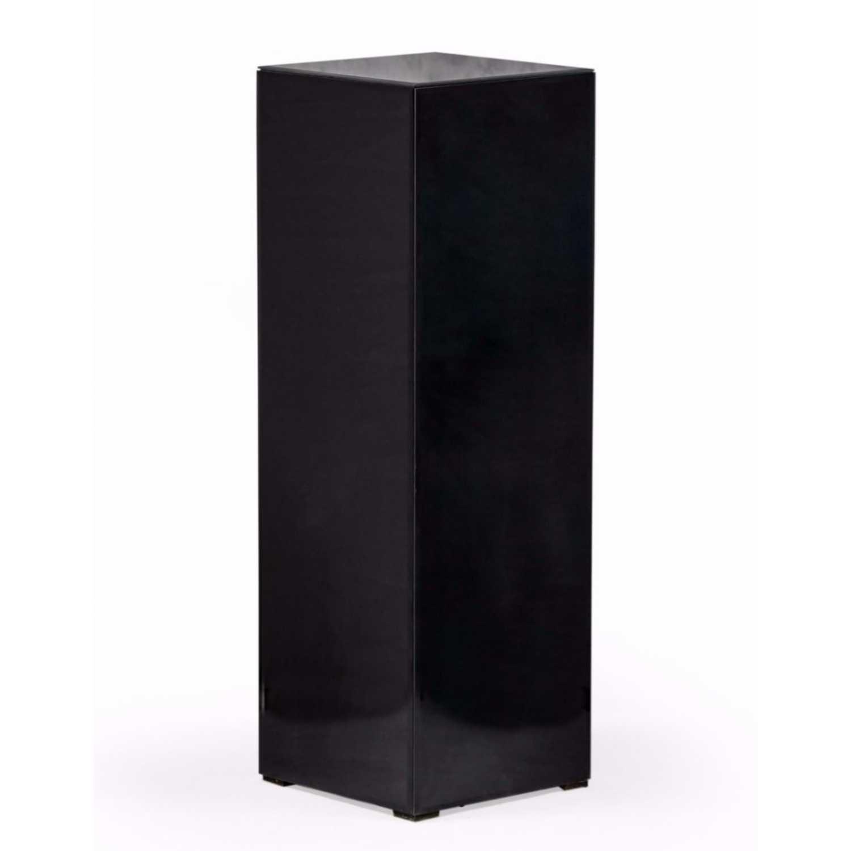 Black Glass 90cm Tall 30cm Square Display Pedestal Stand