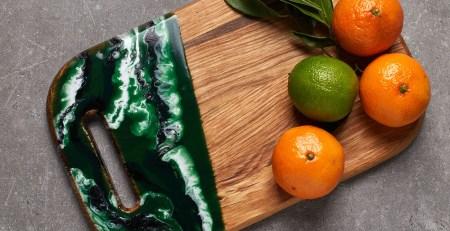 cutting board epoxy header