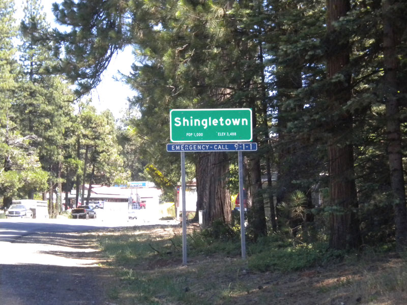 Shingletown Sign