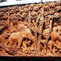 Wooden Carving - Simple Home Architecture Design