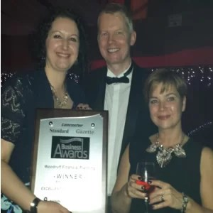 Woodruff Financial Planning were winners at the Colchester Business Awards 2014 for the Excellent Customer Service Award.