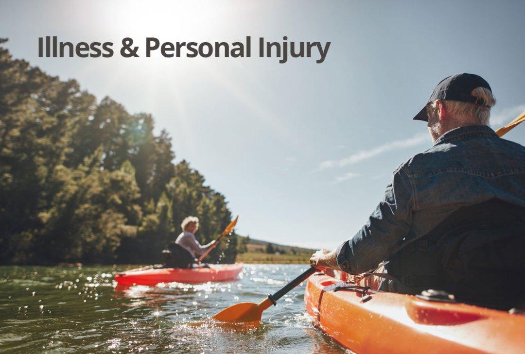Illness and personal injury - couple canoe