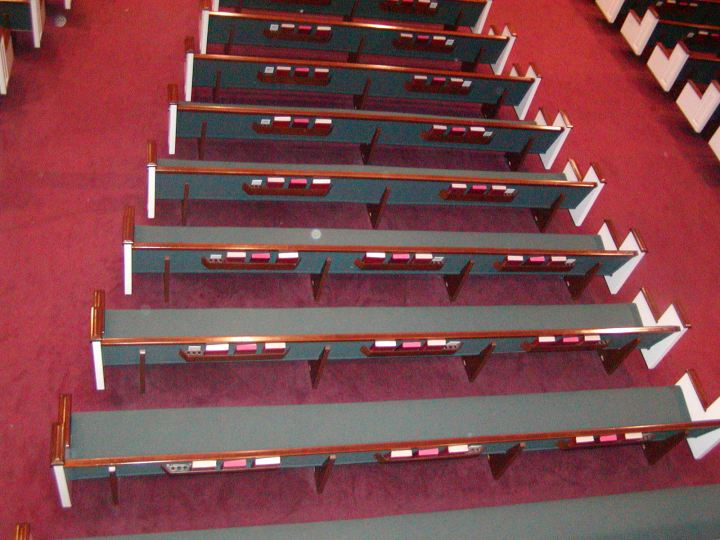 Pew Upholstery Installations Woods Church Interiors