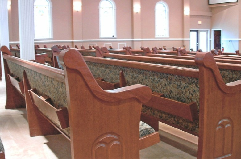 photo 7 of church pews pulpits and communion tables installed at antioch baptist church