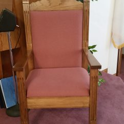 Pastor Pulpit Chairs Banquet Chair Covers Ireland Church Pew Upholstery Woods Interiors