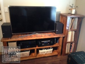 TV console and Record Stand