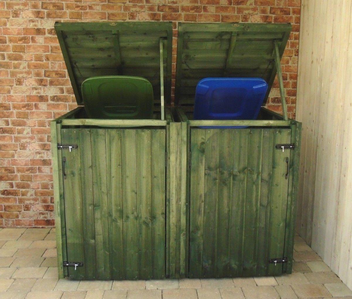 Wheelie Bin Dust Bin Recycling Shelter Green Size
